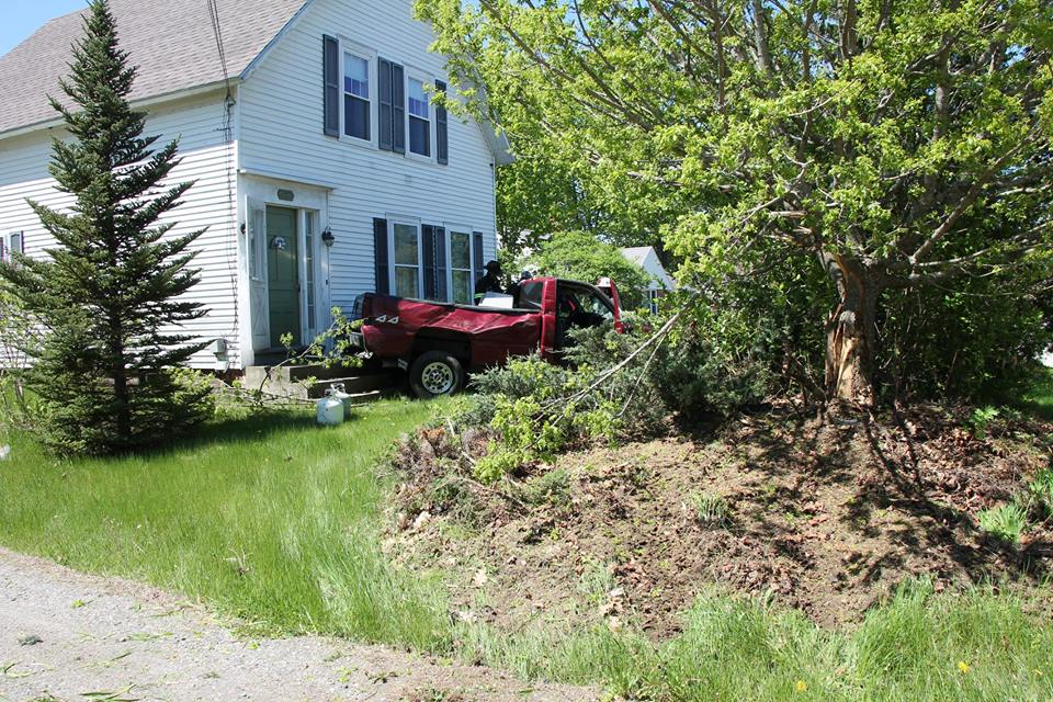 Truck Hits House in Claremont