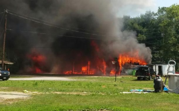 Sugar River Drive Fire
