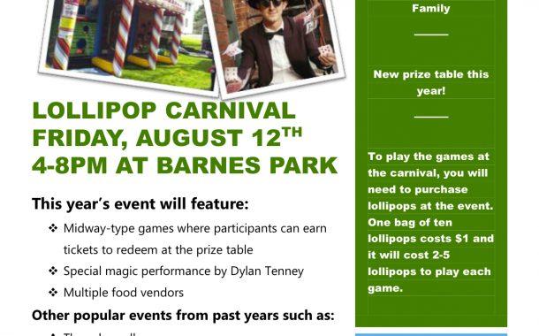 Lollipop Carnival Coming Up Soon!