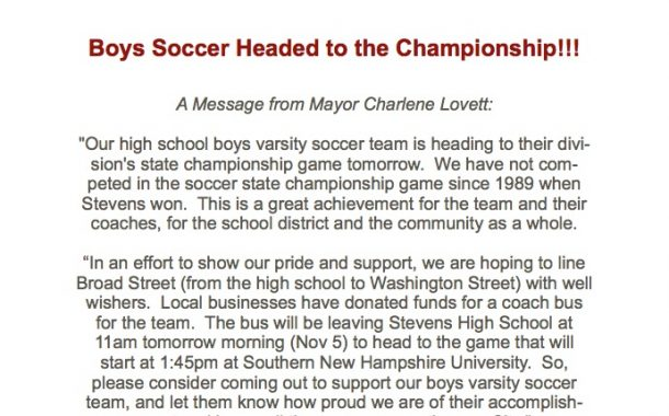 SHS Boys Soccer Team Headed To The Championship!