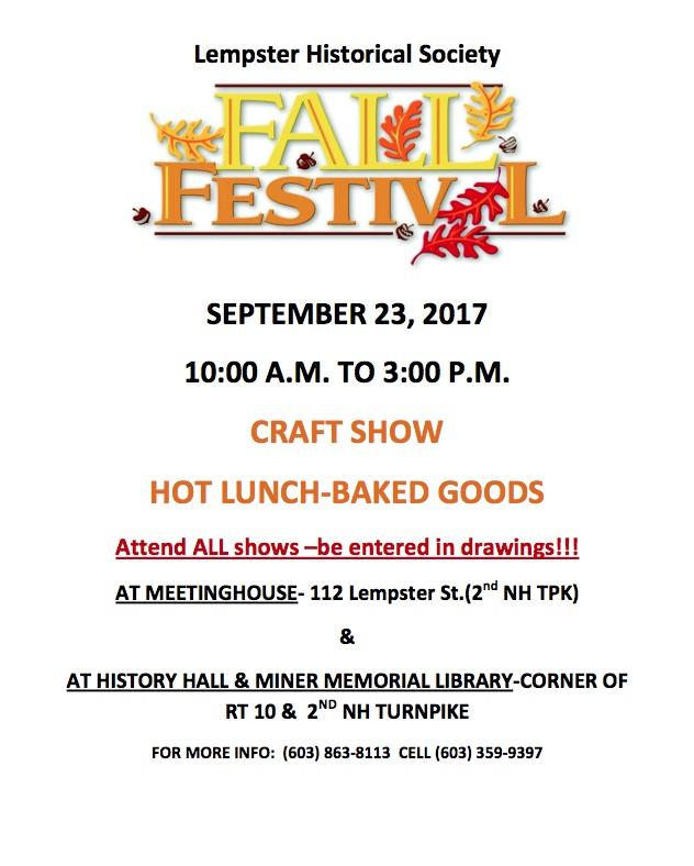 Lempster Fall Festival Fun