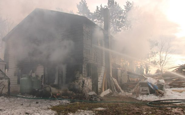 House Destroyed by Fire in Claremont