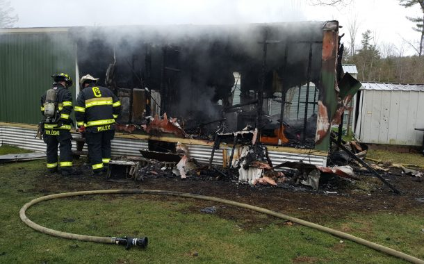 Mobile Home Total Loss Following Fire