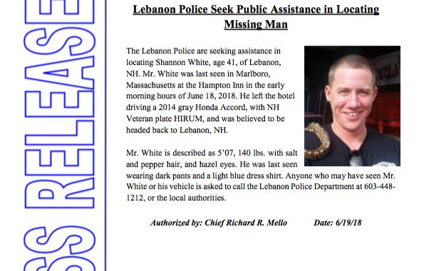 Lebanon Police Seek Public Assistance in Locating Missing Man