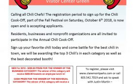 Chili Cook-Off, Fall Festival Fun Coming up