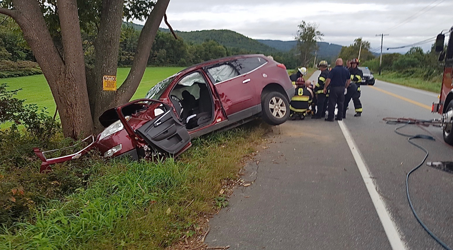 Single Vehicle Accident on Charlestown Road