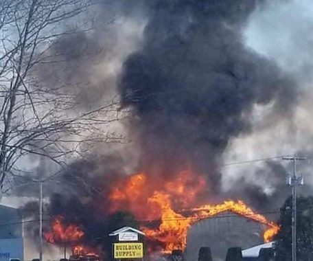 Structure Fire in Newport