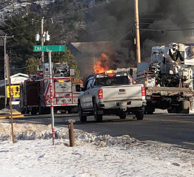 Fire Destroys LaValley's Building #6 in Newport
