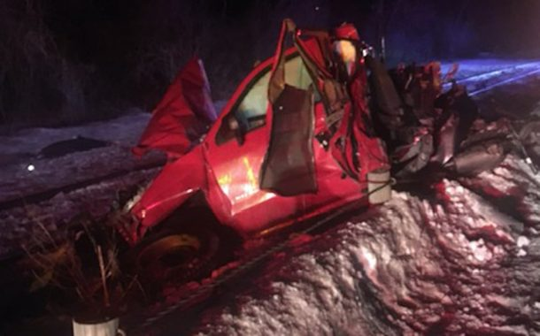 Accident Lands Truck on Tracks, Then is Struck by Train