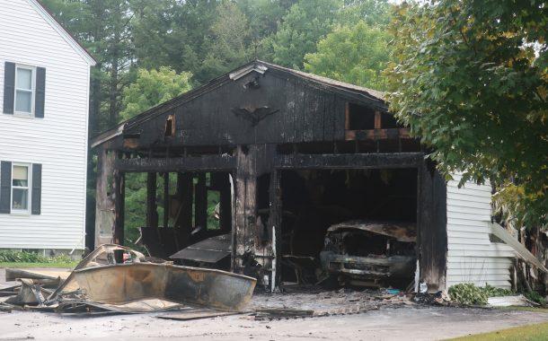 Garage, 2 Vehicles Lost in Claremont Fire