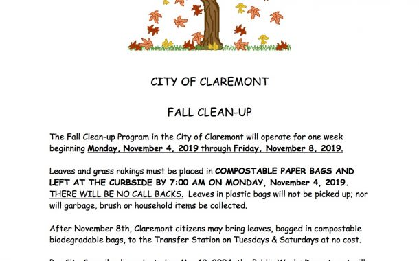 Leaf Pickup in Claremont