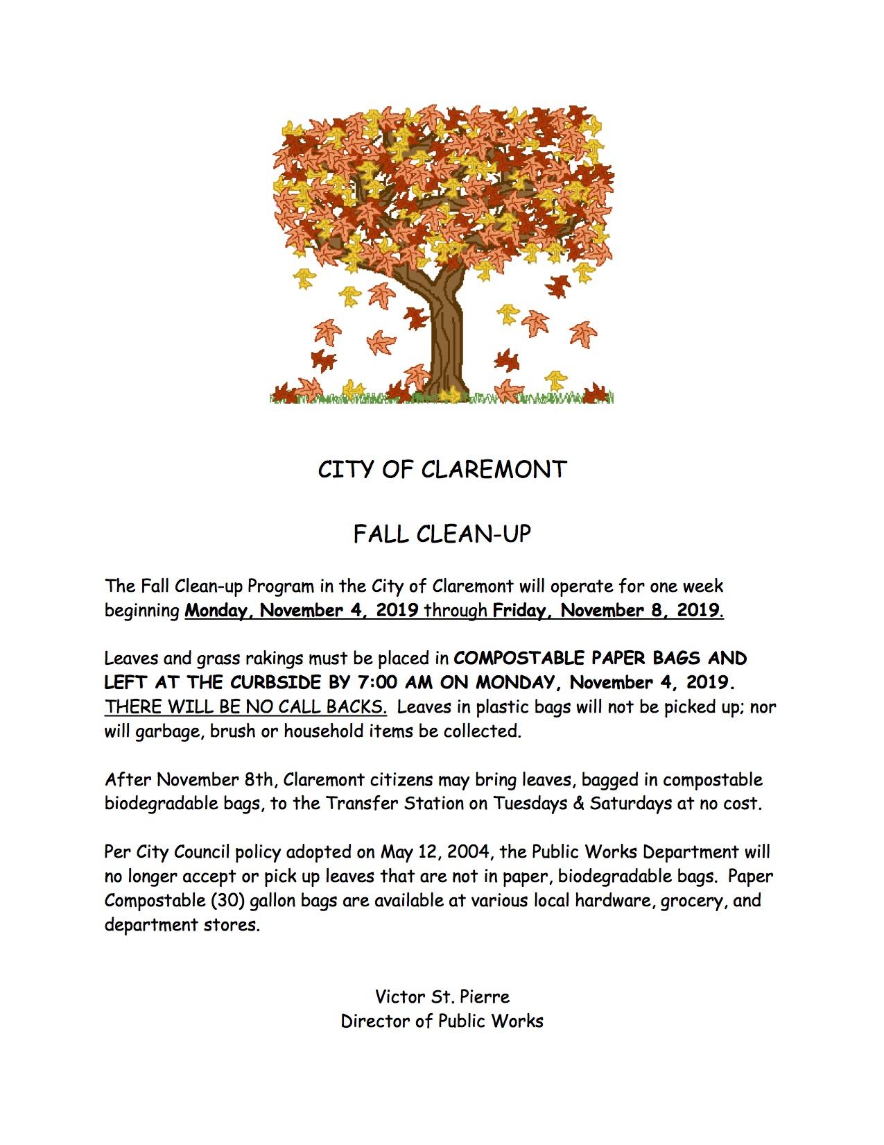 Leaf Pickup in Claremont