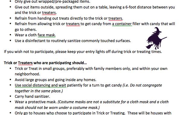 Claremont Halloween Guidelines